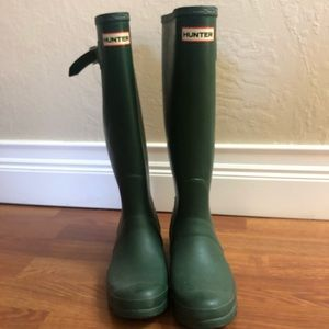 Hunter Green Tall Rainboots Size 6 Female